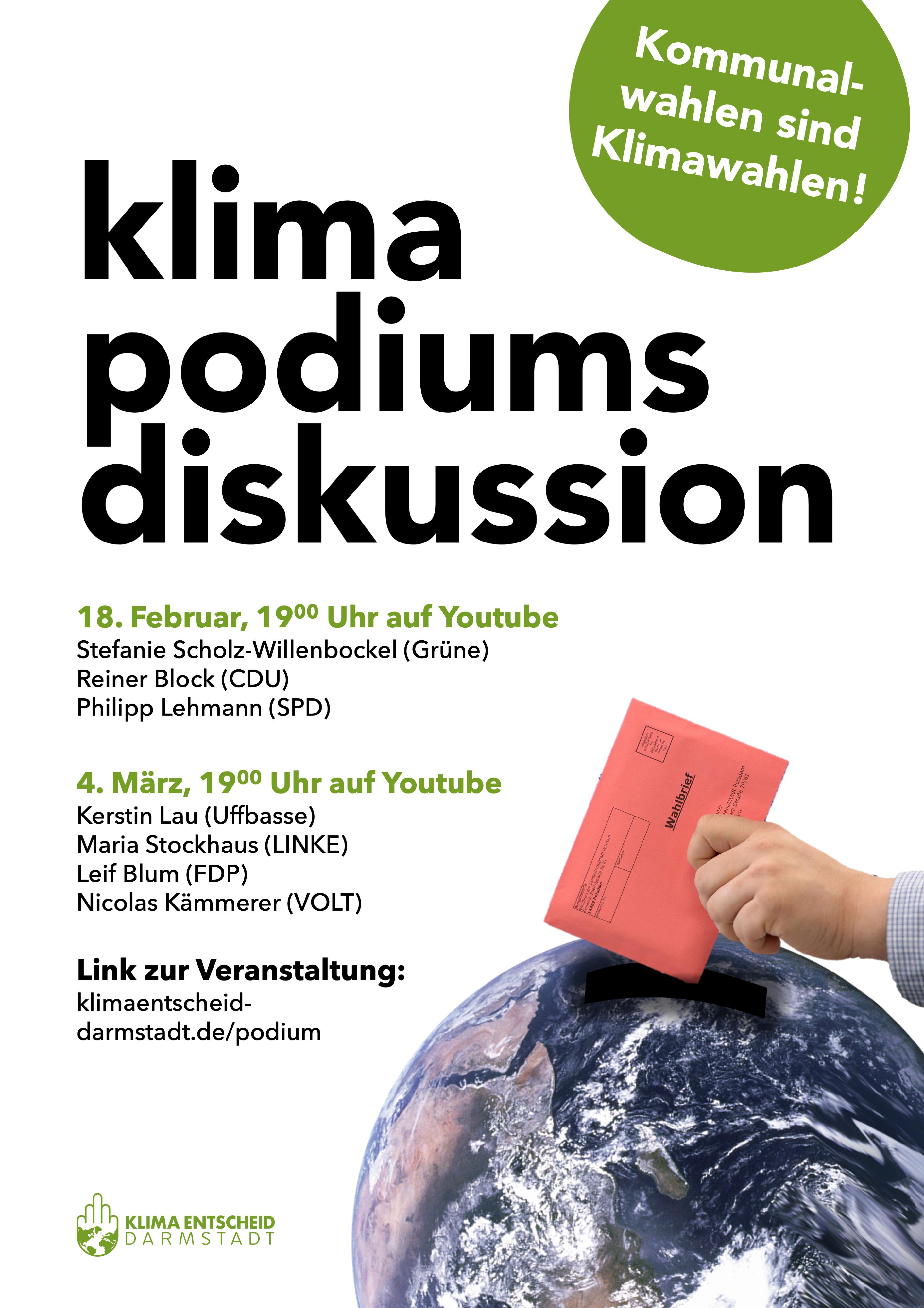 Kommunalwahl-Podiumsdiskussion Uffbasse/Linke/FDP/Volt @ online (Zoom)